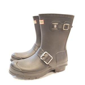 Hunter Original Biker Waterproof Rain Boot size 5